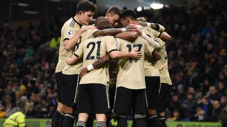 United venceu por 2 a 0 com gols de Martial e Rashford (Foto: OLI SCARFF / AFP)