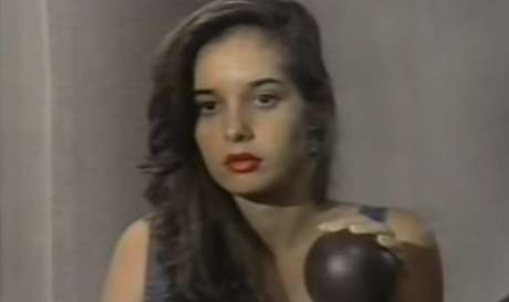 Daniella Perez na última cena que gravou, uma hora antes de ser assassinada