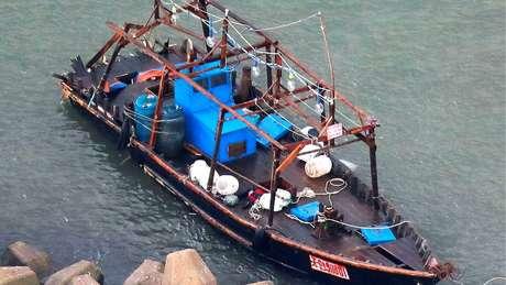 Em geral, embarcações oriundas da Coreia do Norte são bastante simples