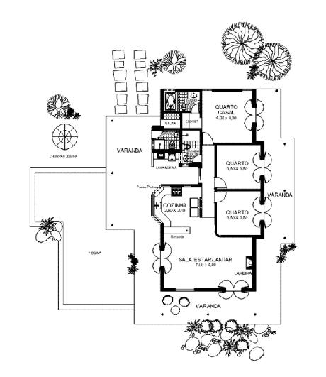7. Planta de casa pequena e simples – Por: Pinterest