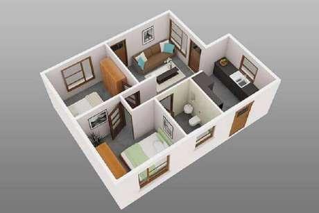 11. Plantas de casas simples e pequenas com 2 quartos – Por: Revista VD