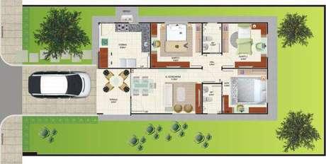 3. Plantas de casas simples com 3 quartos – Por: Pinterest