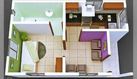 41. Plantas de casas simples e pequenas – Por: Pinterest