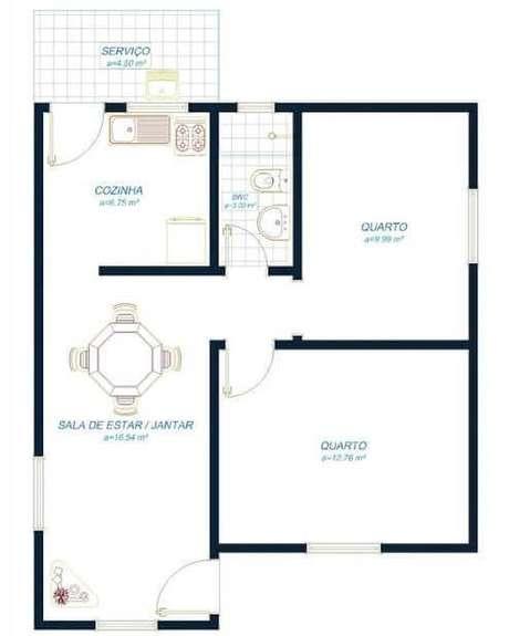 54. Plantas de casas simples – Por: Construindo Decor