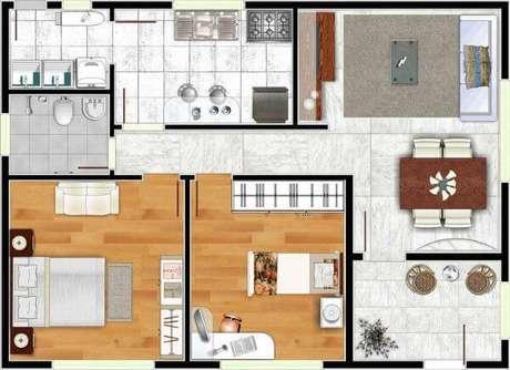 55. Plantas de casas simples – Por: Construindo Decor
