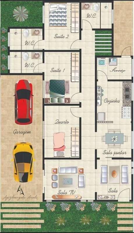 59. Organize as plantas de casas simples de acordo com a sua necessidade – Por: Tua Casa