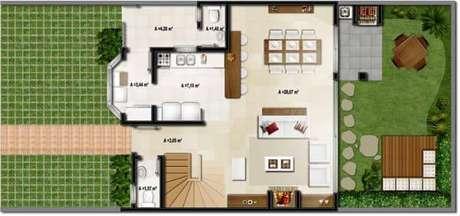 60. Deixe um espaço para área gourmet nas suas plantas de casas simples – Por: Tudo Construção