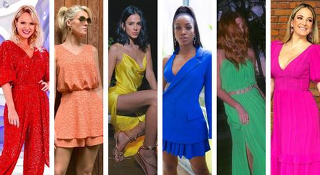 Famosas com as cores-tendência para 2020 (Fotos: Reprodução/Instagram)