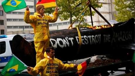 O Brasil foi um dos principais alvos de protestos de ambientalistas durante a conferência sobre clima da ONU, na Espanha