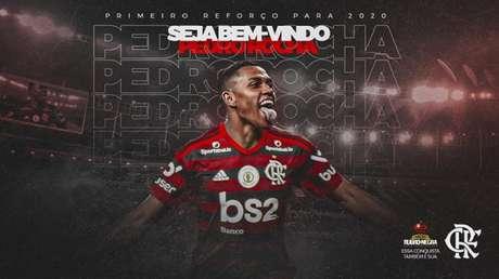 Pedro Rocha chega ao Flamengo por empréstimo até o final da temporada (Foto: Reprodução/Twitter)