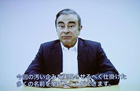 Em comunicado, Ghosn dá detalhes da fuga do cárcere no Japão09/04/2019 REUTERS/Issei Kato