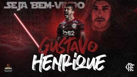 Flamengo usou temática da saga Star Wars para anunciar Gustavo Henrique nas redes sociais