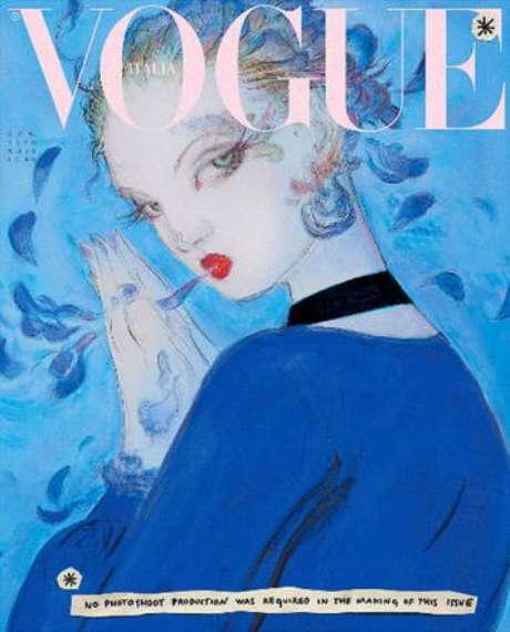 Vogue Itália renuncia a fotografias e lança capa ilustrada