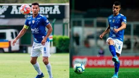 Henrique e Egídio estão na mira do Fluminense(Fotos: Vinnicius Silva/Cruzeiro; Bruno Haddad/Cruzeiro)