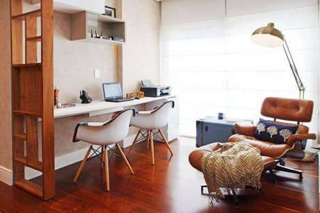 6. Decoração de escritório para home office – Projeto: Serra Vaz Arquitetura