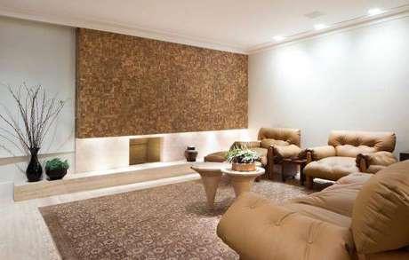 38. Decoração de sala de estar com 2 poltronas moles – Projeto: Eduardo Raimondi