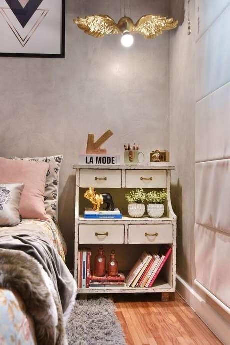 51. Móveis retrô branco para quarto de solteira – Projeto: Tetriz Arquitetura
