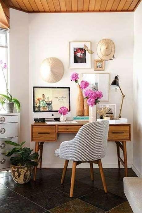 64. Móveis retrô para escritório – Foto: Casa e Construção