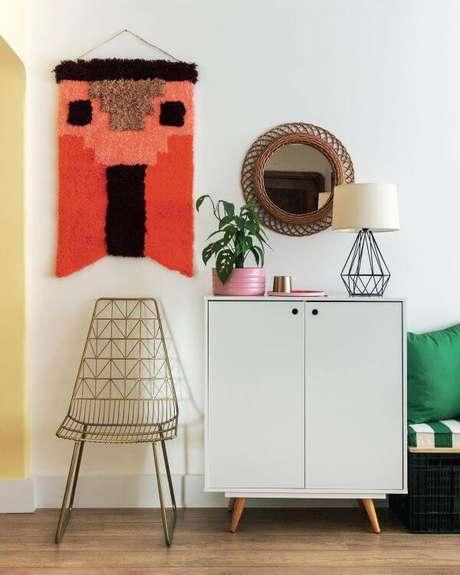 12. Móveis retrô para sala moderna – Foto: Mauricio Arruda