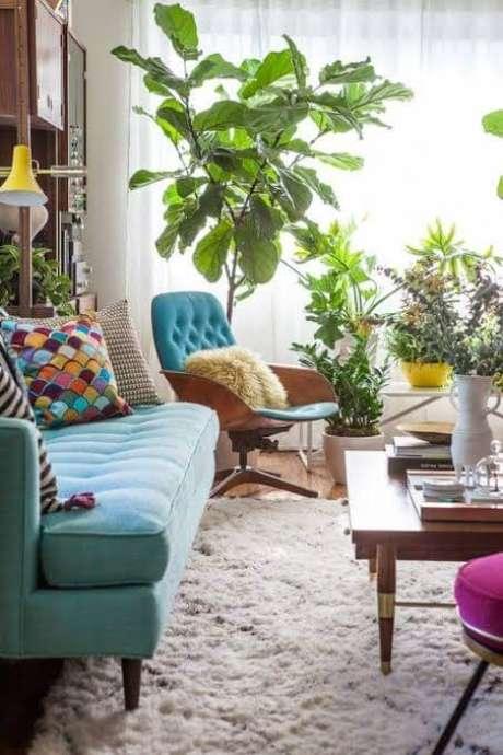 14. Combine as cores dos seus móveis retrô para ter um lindo ambiente – Via: Pinterest