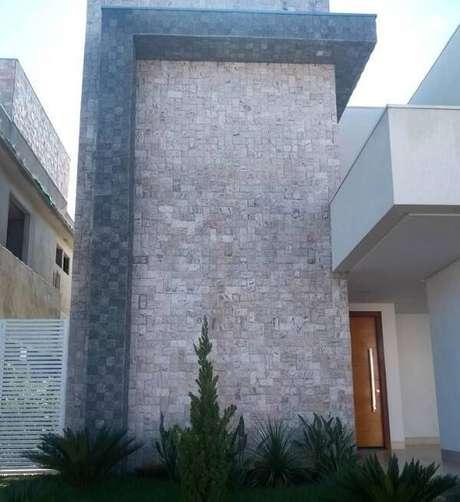 59. A miracema foi utilizada em toda a fachada da casa. Fonte: Pinterest