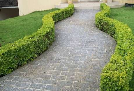 57. Forme lindos caminhos com a miracema cinza. Fonte: Paraíso das Pedras