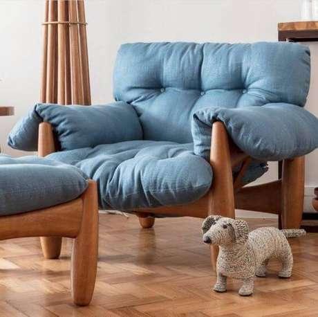 3. Poltrona azul para sala de estar – Foto: Espaço