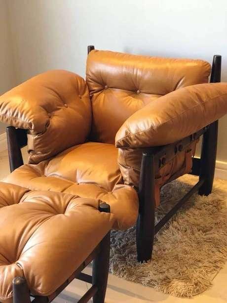 27. Puff poltrona mole para sala de estar – Via: Pinterest