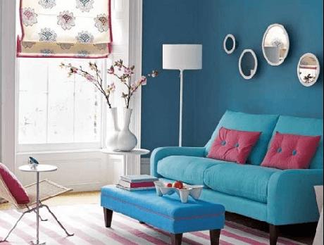 22. Combine o azul e o rosa nos seus móveis retrô coloridos para ter um ambiente lindo! – Foto: Pinterest