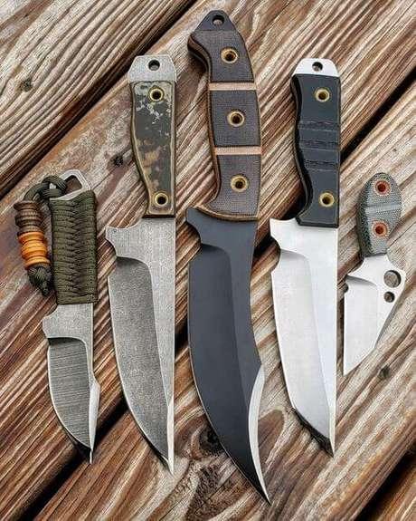 45. Sempre vale a pena comprar um kit com diferentes tipos de facas. Foto: VK