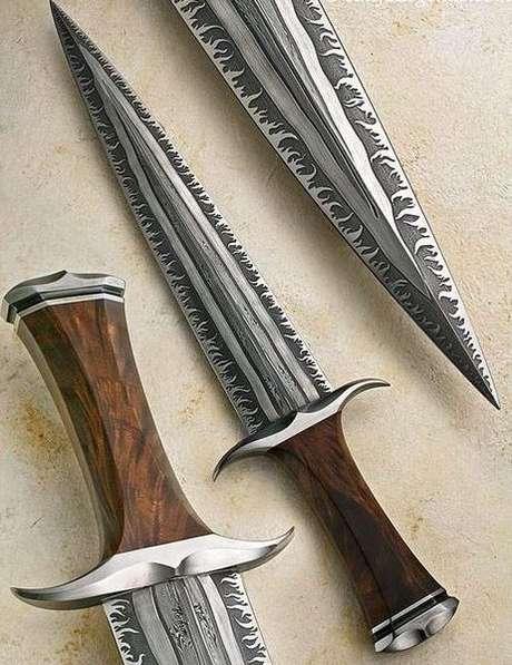 43. Estes tipos de facas são ótimos elementos decorativos. Foto: Mundo Gump