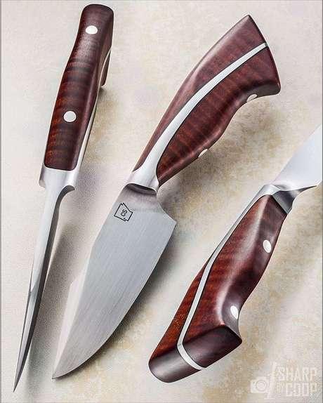 44. Estes tipos de facas são muito versáteis. Foto:Sharo by Coop