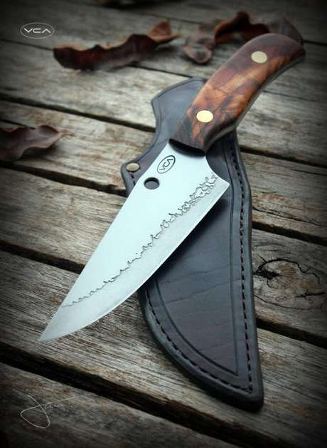 16. A bainha é importante para muitos tipos de facas. Foto: Cutelaria Artesanal