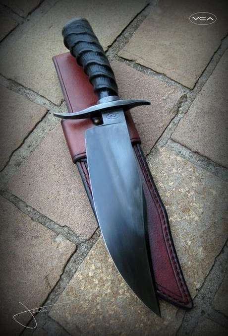 32. Estes tipos de facas chamam mais a atenção pelo estilo decorativo. Foto: Cutelaria Artesanal