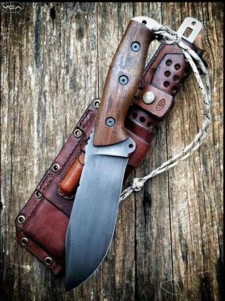 40. Estes tipos de facas são delicadas, porém possuem ótimas lâminas. Foto: Cutelaria Artesanal