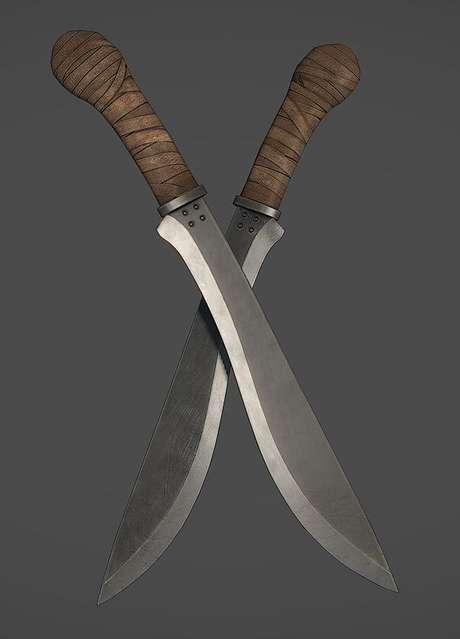 41. Alguns tipos de facas são verdadeiras obras de arte. Foto: Arstation