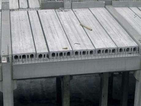 7. Modelo de laje pré-moldada alveolar de concreto. Fonte: Lajes Premold