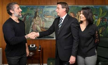 Marcos Mion em encontro com o presidenteJair Bolsonaro.