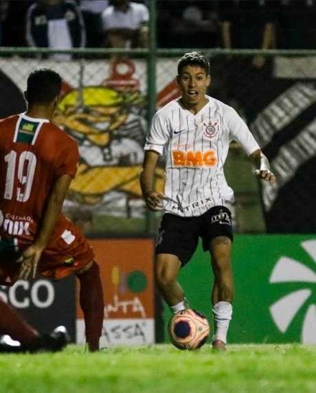 Gabriel Pereira tem sido titular do Corinthians neste início de Copinha (Rodrigo Gazzanel/Agência Corinthians)
