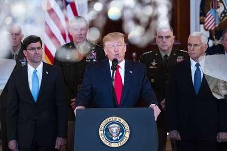 Donald Trump se pronuncia na Casa Branca sobre ataque iraniano