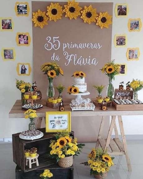 7. Festa de aniversário tema girassol para se inspirar. Fonte: Pinterest