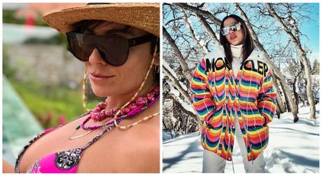 Famosas exibem modelos de óculos de sol esportivos (Fotos: Reprodução/Instagram)