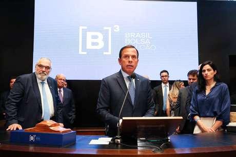 Governador de São Paulo, João Doria, esteve presente no leilão do lote de rodovias estaduais Piracicaba-Panorama na Bolsa de Valores