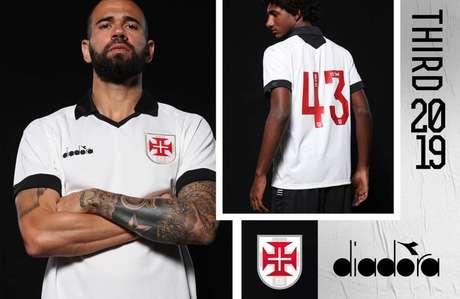 Vasco utilizará camisas feitas pela Diadora apenas até o final do Carioca (Foto: Reprodução)