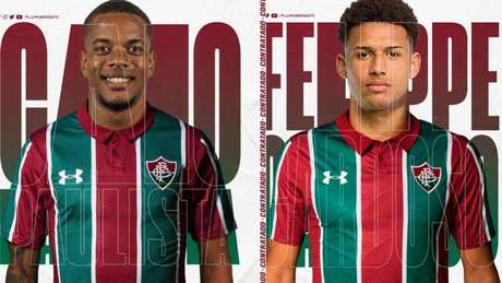 Fluminense anunciou dois reforços para o ataque (Fotos: Divulgação Fluminense)