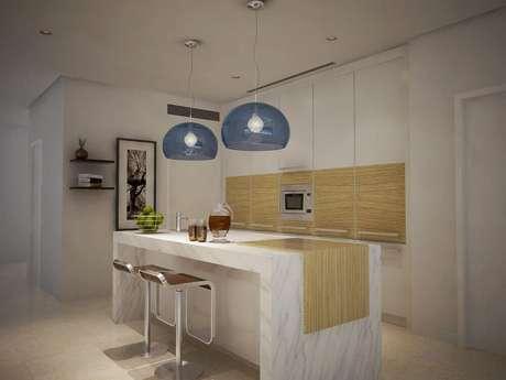 27. Modelo de luminária para cozinha americana