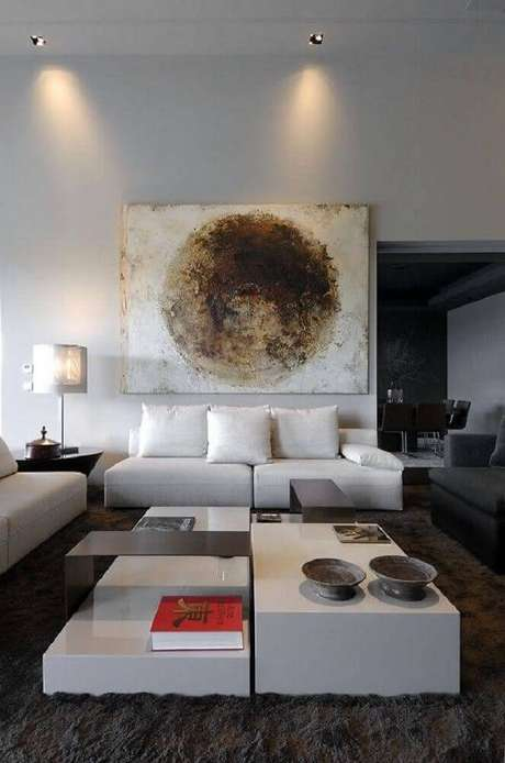 16. Os modelos grandes de quadros para sala grande são excelente itens decorativos. Fonte: Pinterest