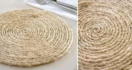 31. Descanso de panela feito com linha de sisal. Fonte: Um Doce Dia
