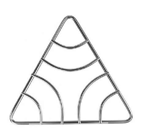 40. Modelo de descanso de panela inox triangular. Fonte: Magazine Luiza