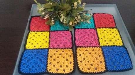 47. Jogo de duas peças de de crochê. Fonte: Da Nani Arteria